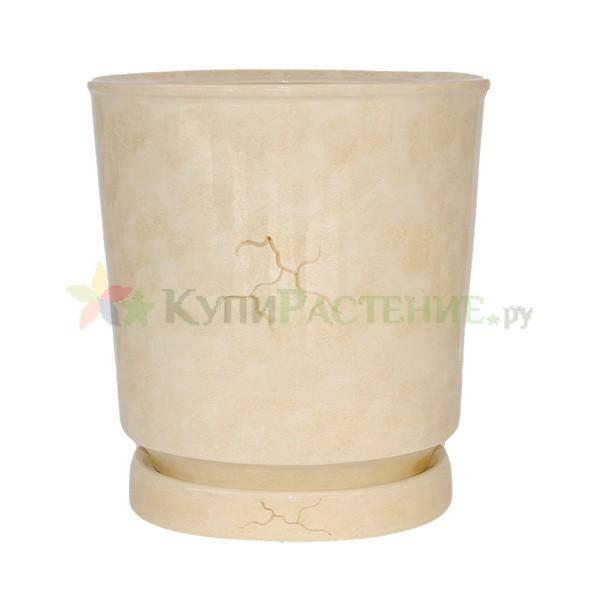 керамический горшок бежевый Вазон