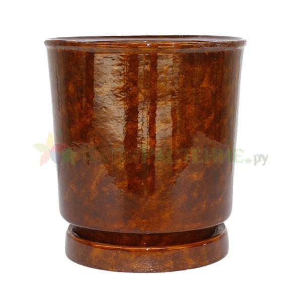 Керамический горшок коричневый Вазон