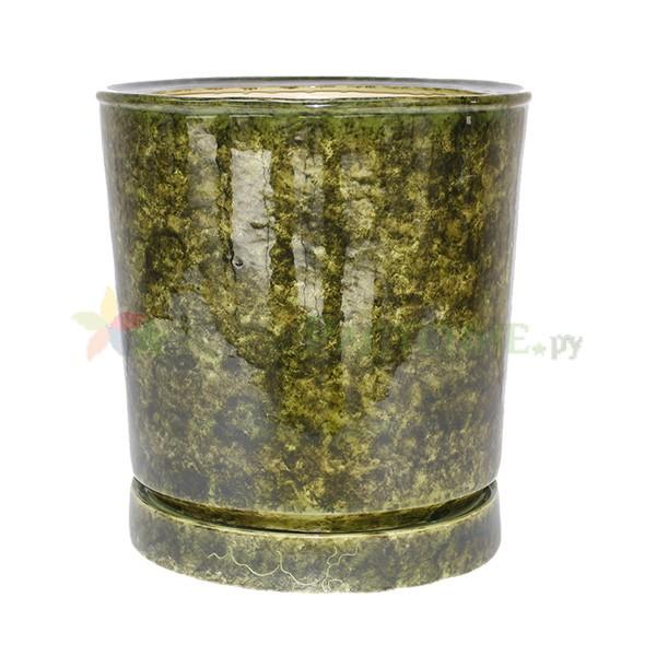 Керамический горшок зеленый Вазон