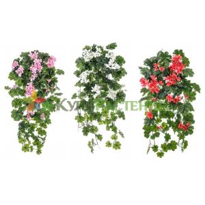 Искусственная ампельная герань (geranium)