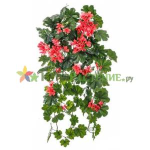 Искусственная ампельная герань (geranium) red