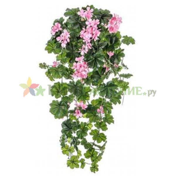 Искусственная ампельная герань (geranium) rose