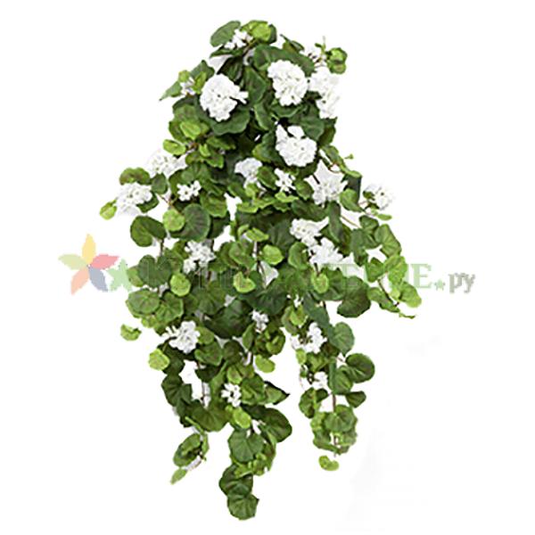 Искусственная ампельная герань (geranium) white