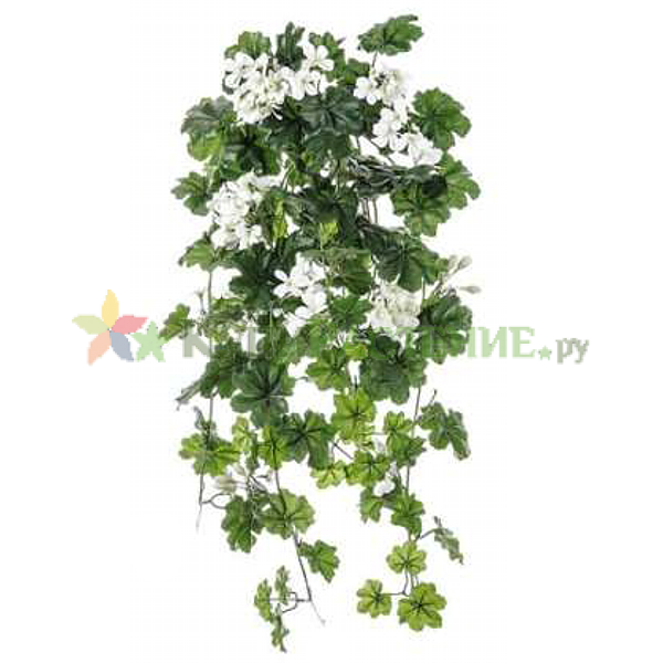 Искусственная ампельная герань (geranium) white 2